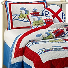 Train Trax Quilt Set, 100% Cotton