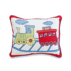 Train Trax Oblong Toss Pillow