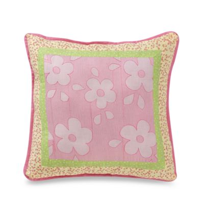 Pretty in Pink 16-Inch Square Toss Pillow