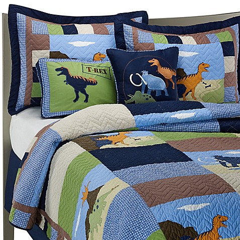 Dinosaur Quilt Set, 100% Cotton