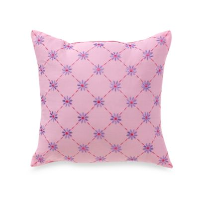 Lily Frog 16-Inch Square Toss Pillow