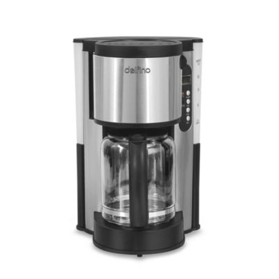 Delfino Coffee Maker Replacement Carafe : Delfino 12-Cup Programmable Stainless Steel Coffee Maker - Bed Bath & Beyond