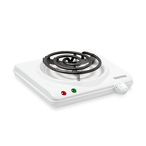 White Single Coil Portable Cooking Range by Toastess