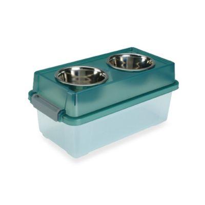 IRIS USA 12-Quart Elevated Medium Dog Feeder with Storage