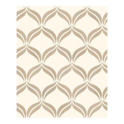 Wentworth Ogee Wallpaper in Beige