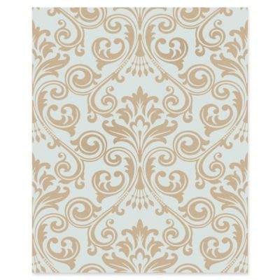 Wentworth Damask Wallpaper in Blue