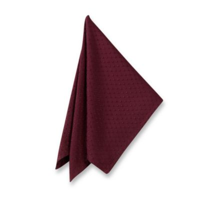 McKenna Microfiber Napkins in Brick (Set of 2)