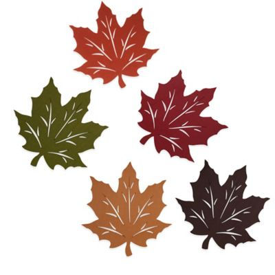 Felt Leaf Placemat in Rust