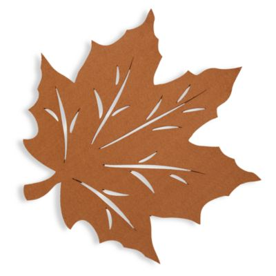 Felt Leaf Placemat in Bronze
