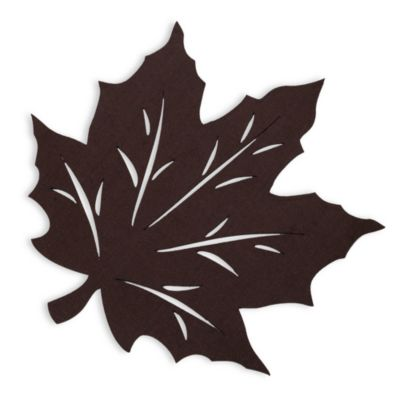 Felt Leaf Placemat in Brown