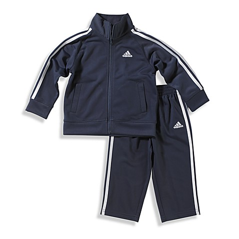 Adidas 174 Kids Boy S Tricot Tracksuit In Navy Buybuy Baby
