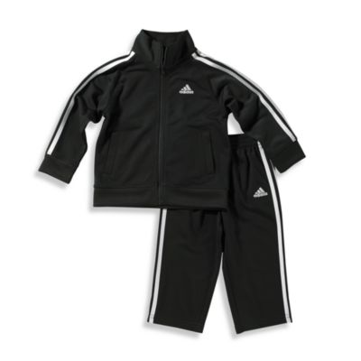 Adidas® Kids Toddler Boy's Size 2T Tricot Tracksuit Set in Black
