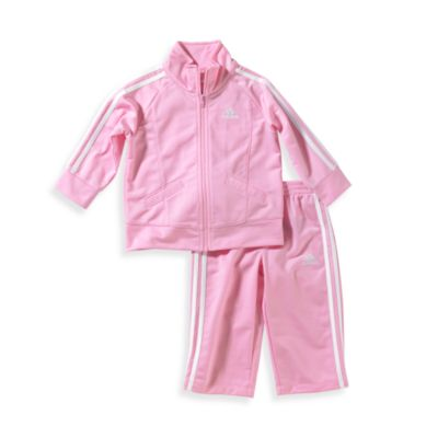 Adidas® Kids Infant Girl's Size 12 Months Tricot Tracksuit Set in Pink