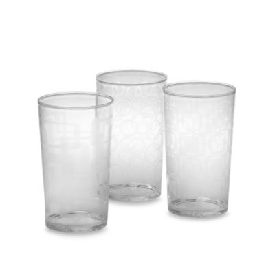 Etched Clear Tumblers (Set of 6)