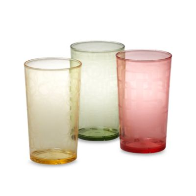 Etched Colored 24-Ounce Tumblers (Set of 6)