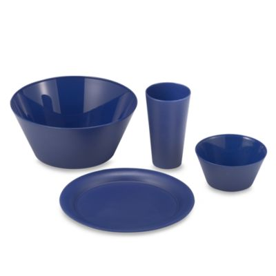 Polyproylene 13-Piece Dinnerware Set in Navy