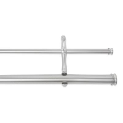 Cambria Complete Brushed Nickel Adjustable Double Rod