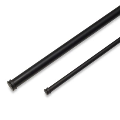 Cambria® Premier Complete® Double Drapery Rod in Matte Brown