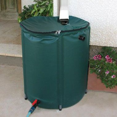 Heaven & Earth 104 Gallon Collapsible Rain Water Barrel