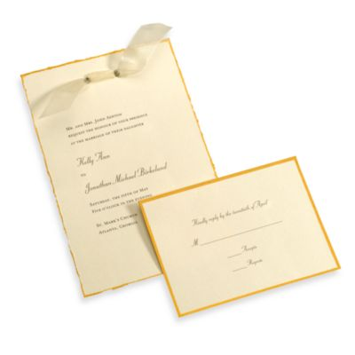 Gartner Studios 50-Count Ivory Gold Deckled Edge Invitation Kit