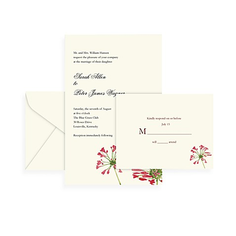 Gartner Studios 50-Count Pink Floral Invitation Kit