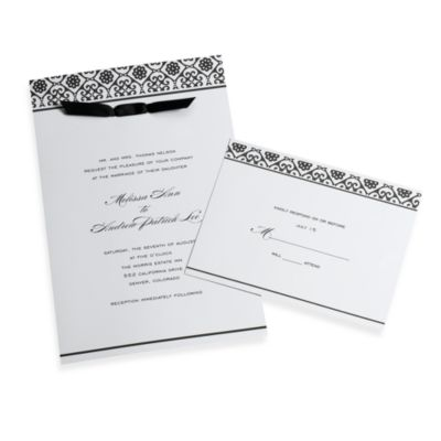 Gartner Studios 50-Pack Black and White Damask Invitations®