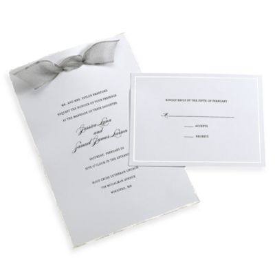 Gartner Studios 50-Count Platinum Deckled Edge Invitation Kit
