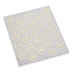 Gartner Studios Gold Clear Love Seals (Set of 2)