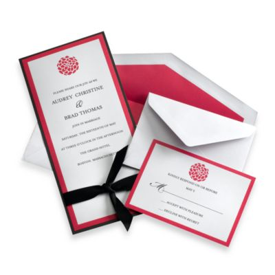 Gartner Studios 50-Count Fuchsia Invitation Kit