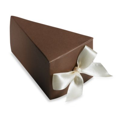 Gartner Studios 50-Count Chocolate Cake Favor Box