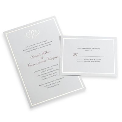 Gartner Studios 50-Count Platinum Hearts Invitation Kit