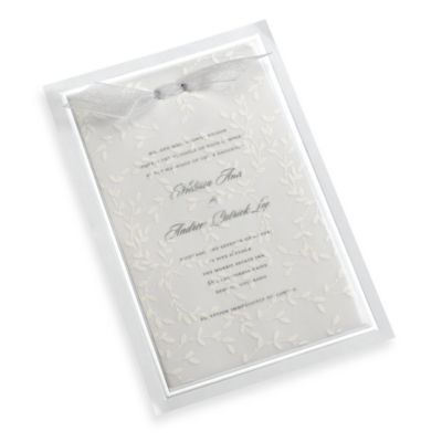 Gartner Studios 10-Count White Vines Vellum Invitation Kit