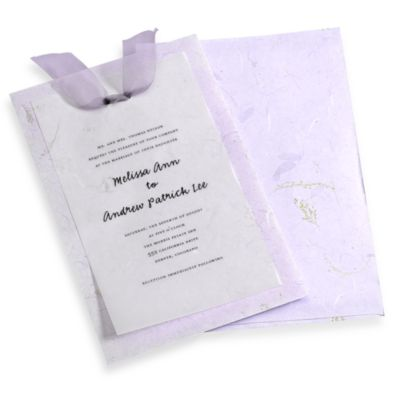 Gartner Studios 10-Count Lavender Handmade Paper Invitation Kit