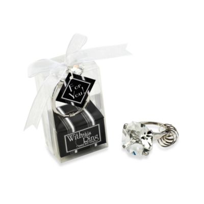 Kate Aspen® With this Ring Keychain Bridal Favor
