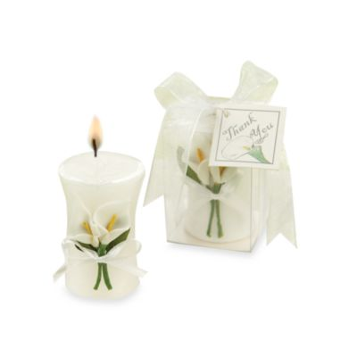 Kate Aspen® Calla Lily Elegance Vase Candle Wedding Favor