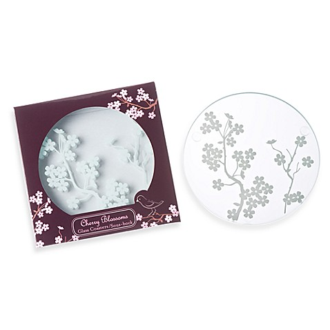 Kate Aspen® Cherry Blossoms Coaster Wedding Favors (Set of 2)