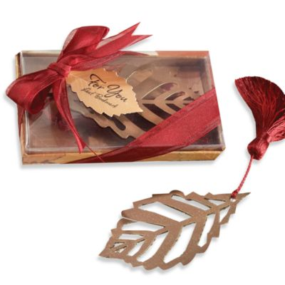 Kate Aspen® Leaf Bookmark Wedding Favor