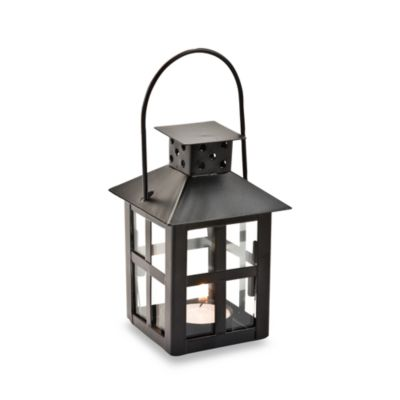 Kate Aspen® Mini Lantern Black Tealight Holder Wedding Favor