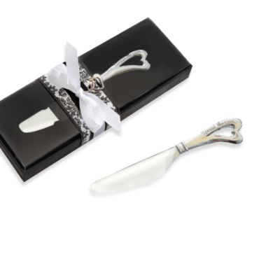 Kate Aspen® Chrome Spreader with Heart Shaped Handle Wedding Favor
