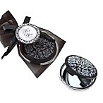 Kate Aspen® Black and White Compact Bridal Shower Mirror