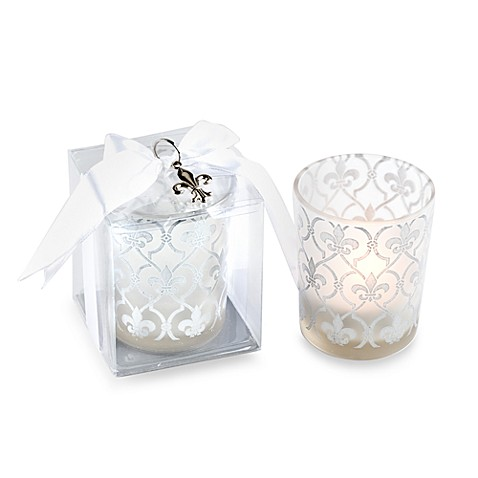 Kate Aspen® Fleur-de-lis Tealight Holders Wedding Favor (Set of 4)