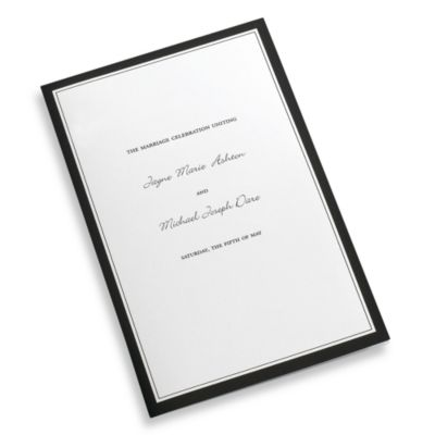 Half Fold Wedding Program Paper