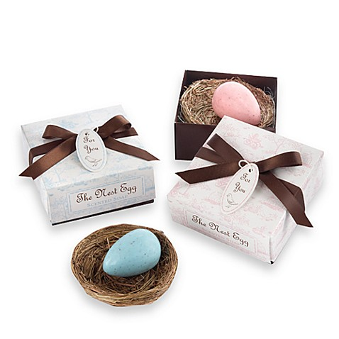 Kate Aspen® Pink Egg Soap in a Nest Baby Shower Favor