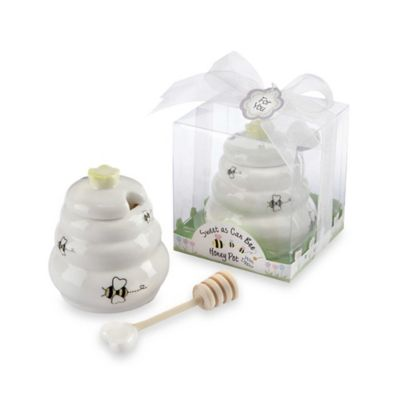Kate Aspen® Honey Pot with Wooden Dipper Baby Shower Favor