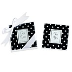 Kate Aspen® Black and White Polka Dot Coaster Wedding Favors (Set of 2)