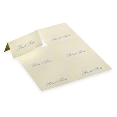 Laura Ashley® White Pearl Placecards (Set of 4)