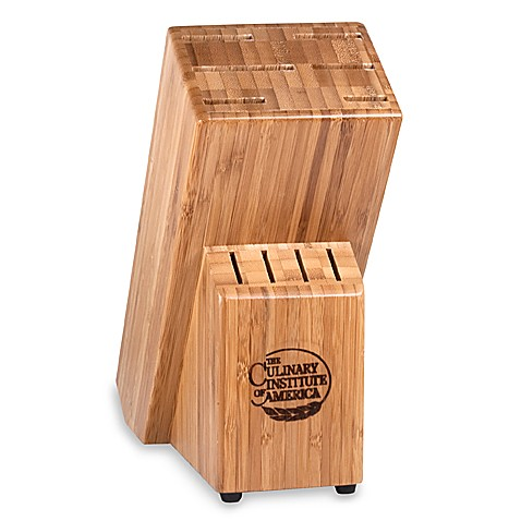 Culinary Institute of America® Master's Collection® 10-Slot Bamboo Knife Block
