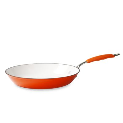 "Tabletops Unlimited® Cast Iron Lite 12"" Frying Pan - Orange"