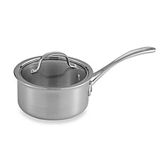 Calphalon® Tri-Ply Stainless Steel 1.5-Quart Saucepan with Lid