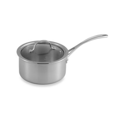 Calphalon® Tri-Ply Stainless Steel 2.5-Quart Saucepan with Lid